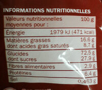 pirates - Nutrition facts