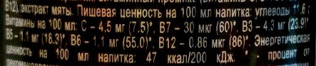 Gorilla Mint - Пищевая и энергетическая ценность - ru