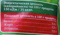 Суп овощной «Грядка удачи» - Nutrition facts