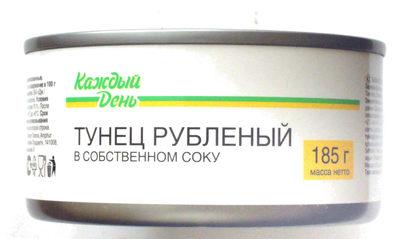 Тунец рубленый в собственном соку - Product