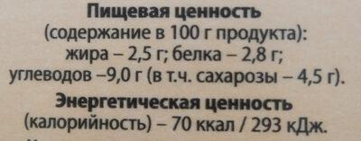 """Коктейль молочный пастеризованный со вкусом""""Тоффи"""" - Nutrition facts"""