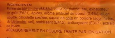 Nouilles chinoises instantanées goût boeuf - Ingrédients - fr
