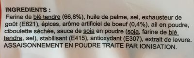 Nouilles chinoise - Ingredients