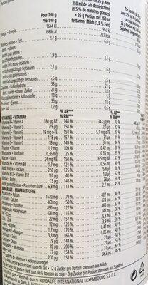 Herbalife Formula 1 bisquit - Nutrition facts - fr