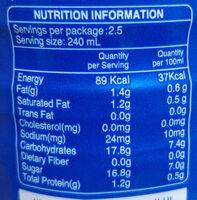 Milk Tea Drink - Voedingswaarden - en