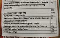 BinBin Rice Crackers 150g - Informations nutritionnelles