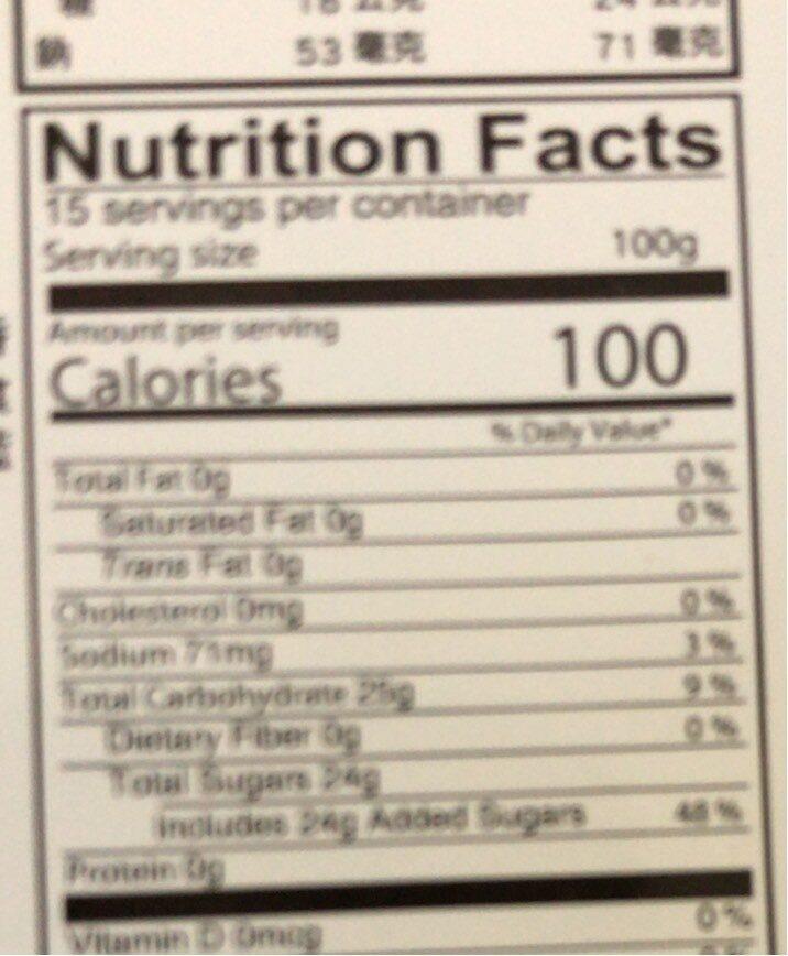 Assorted - Nutrition facts - en