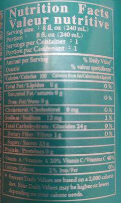 refresco con aloe vera chin chin - Información nutricional - es