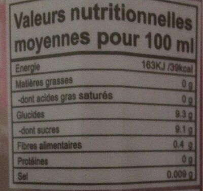ALOE VERA - Nutrition facts - fr