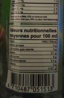 Jus d'aloé vera - Nutrition facts - fr