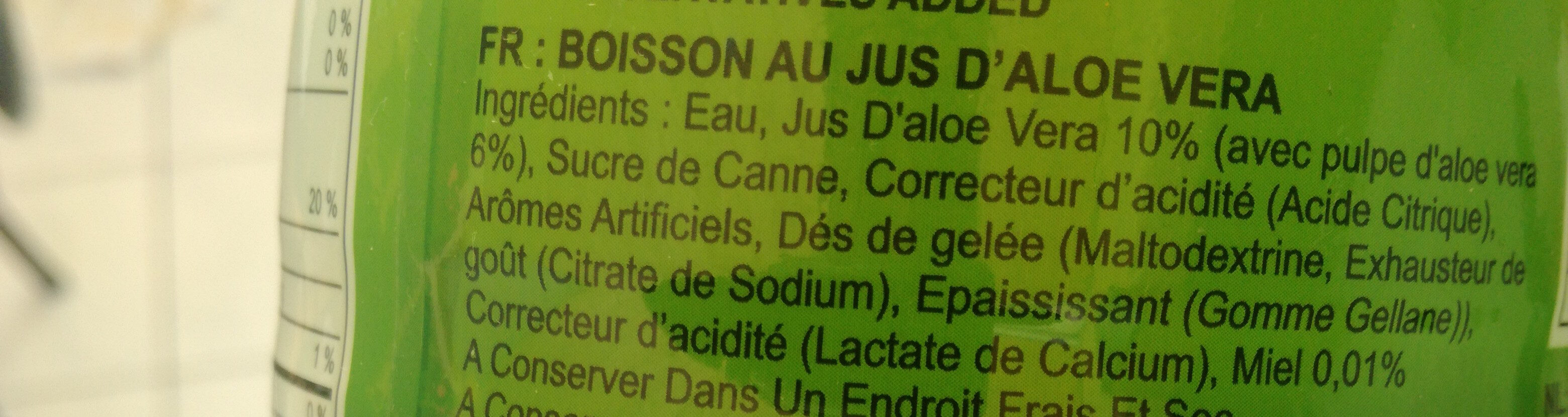 Boisson Jus D'aloe Vera - Ingredients - fr