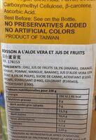 Chin Chin Aloe Vera Mixed Fruits - Ingredients - fr