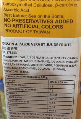 Chin Chin Aloe Vera Mixed Fruits - Ingredients