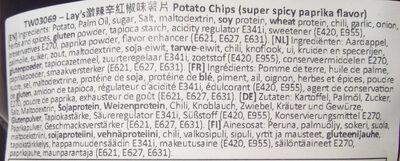 Chips saveur paprika super pimenté - Ingredients