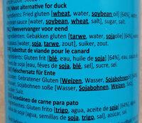 Fleischersatz für Ente - Ingredients - fr