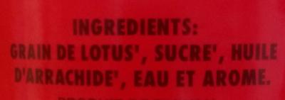 Pâte de Graine de Lotus Sucrée - Ingrédients