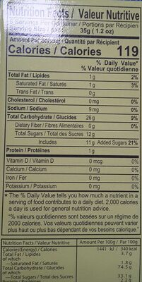 Green Tea Mochi - Nutrition facts - fr