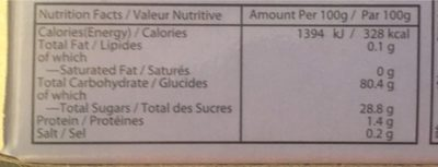 Taro mochi - Nutrition facts - fr