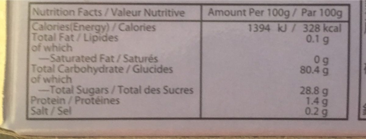 Taro mochi - Nutrition facts