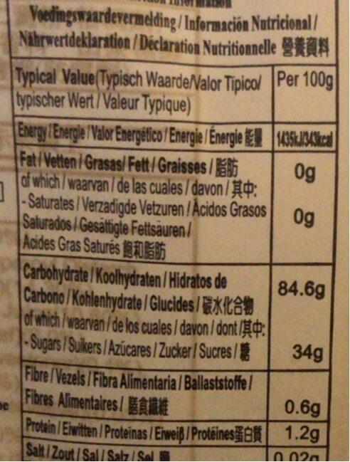 Royal Family Strawberry Mochi 120GM - Voedingswaarden - fr