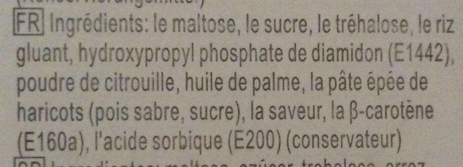 Mochi à la Citrouille - Ingrédients