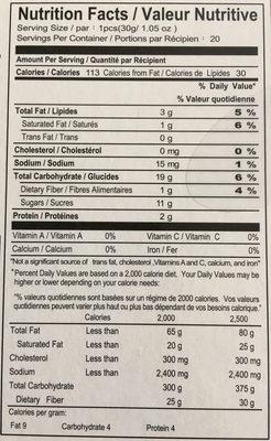 Japanese Mochi - Informations nutritionnelles