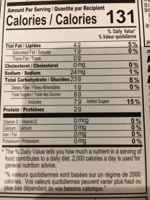 Taiwan Style Mochi Sésame & Cacahuète - Informations nutritionnelles
