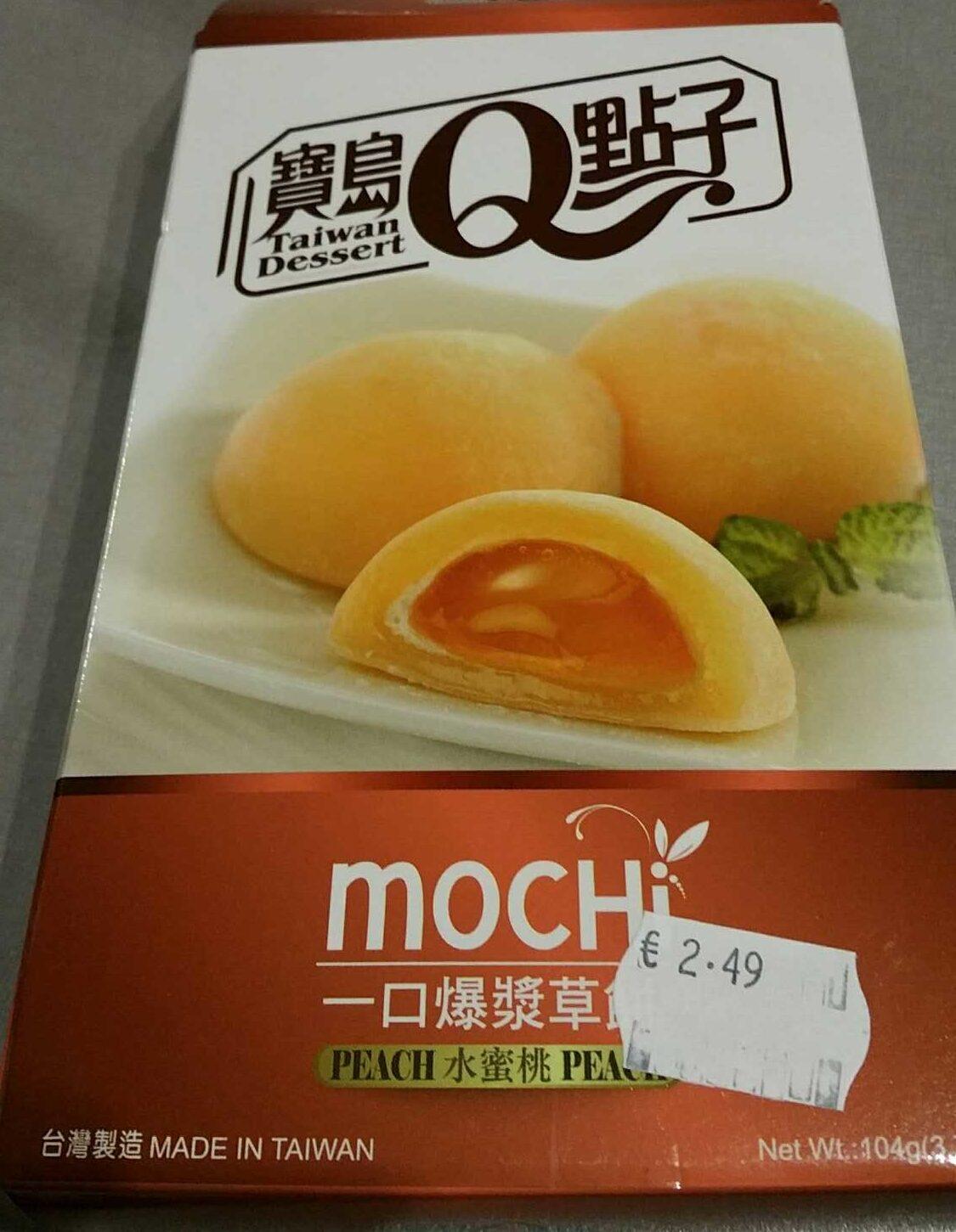 Japanischer Pfirsich Mochi / Reiskuchen 8 x 13g, 104g - Produit