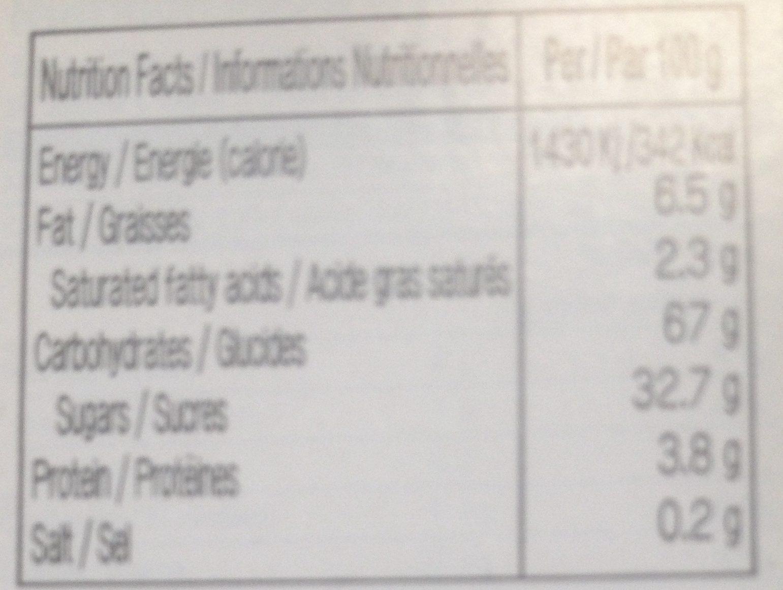 Mochi Sesame & Coconut - Informations nutritionnelles