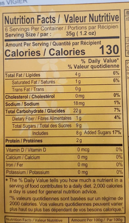 Peanut Mochi - Informations nutritionnelles - fr