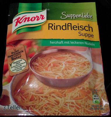 Knorr Suppenliebe Rindfleisch Suppe - Produit - de