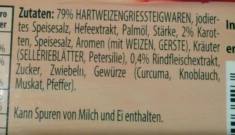 Knorr Suppenliebe Rindfleisch Suppe - Ingrédients - de