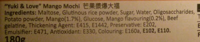Mango Mochi - Ingredients