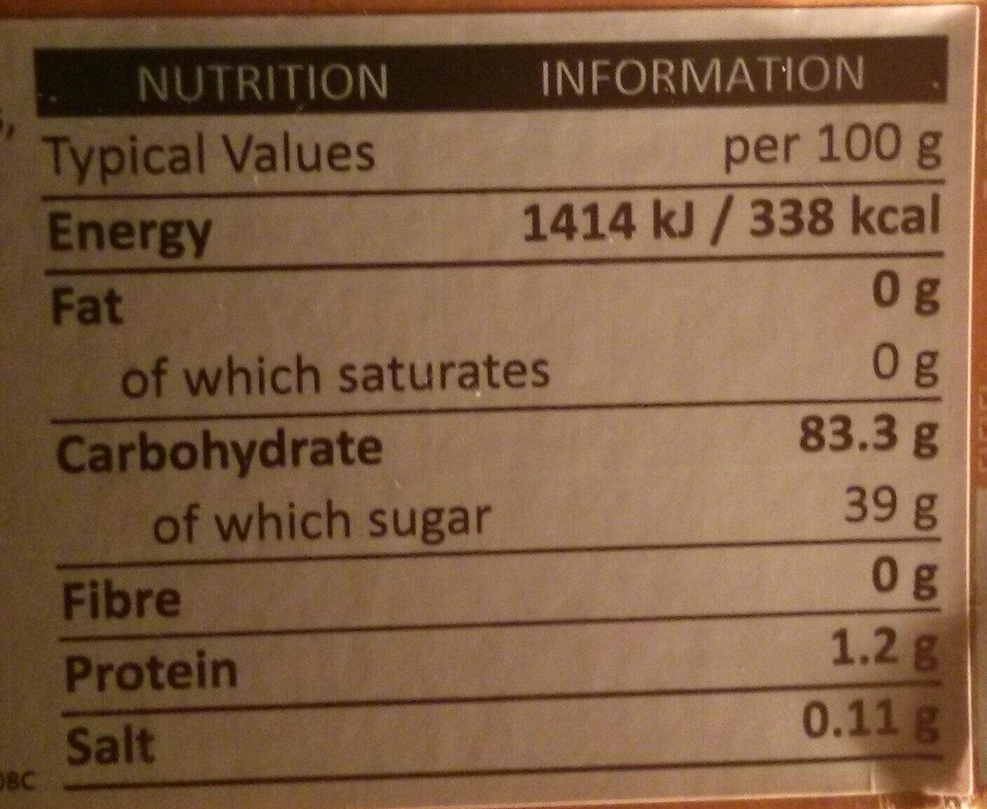 Mango Mochi - Nutrition facts