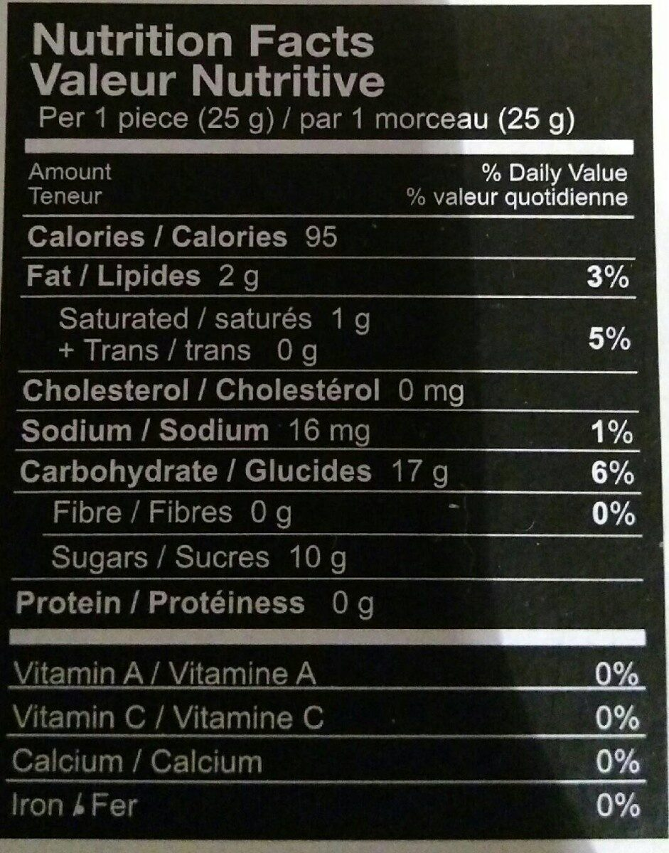 Taiwan mochi mixed flavor - Informations nutritionnelles - fr