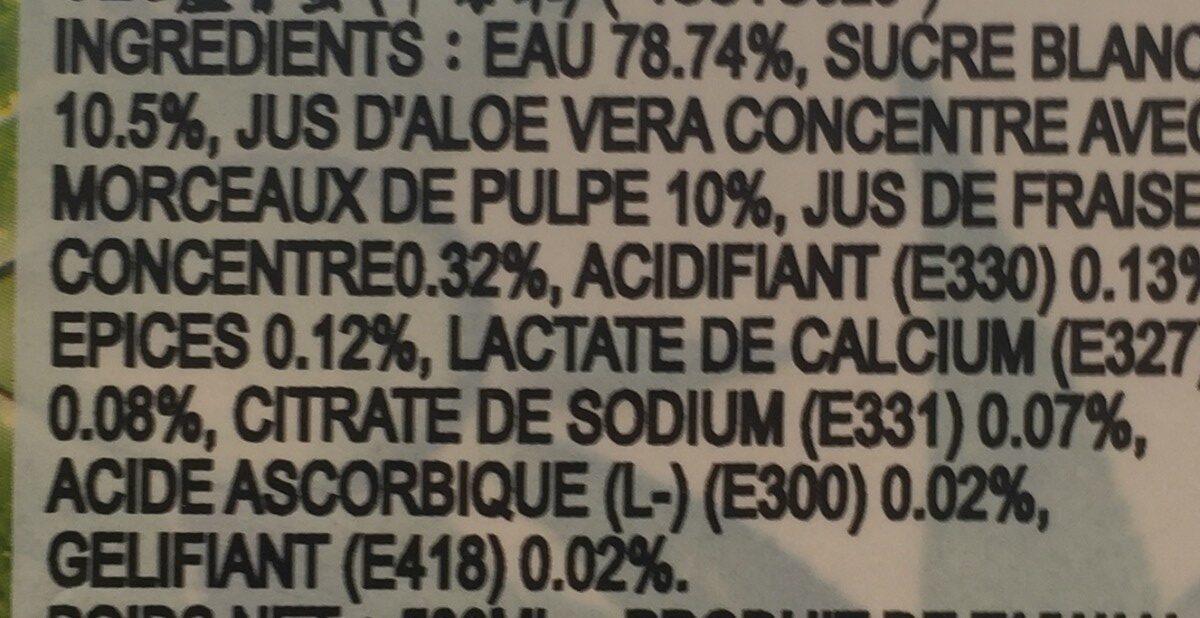 Aloe Vera Drink Strawberry - Ingrédients