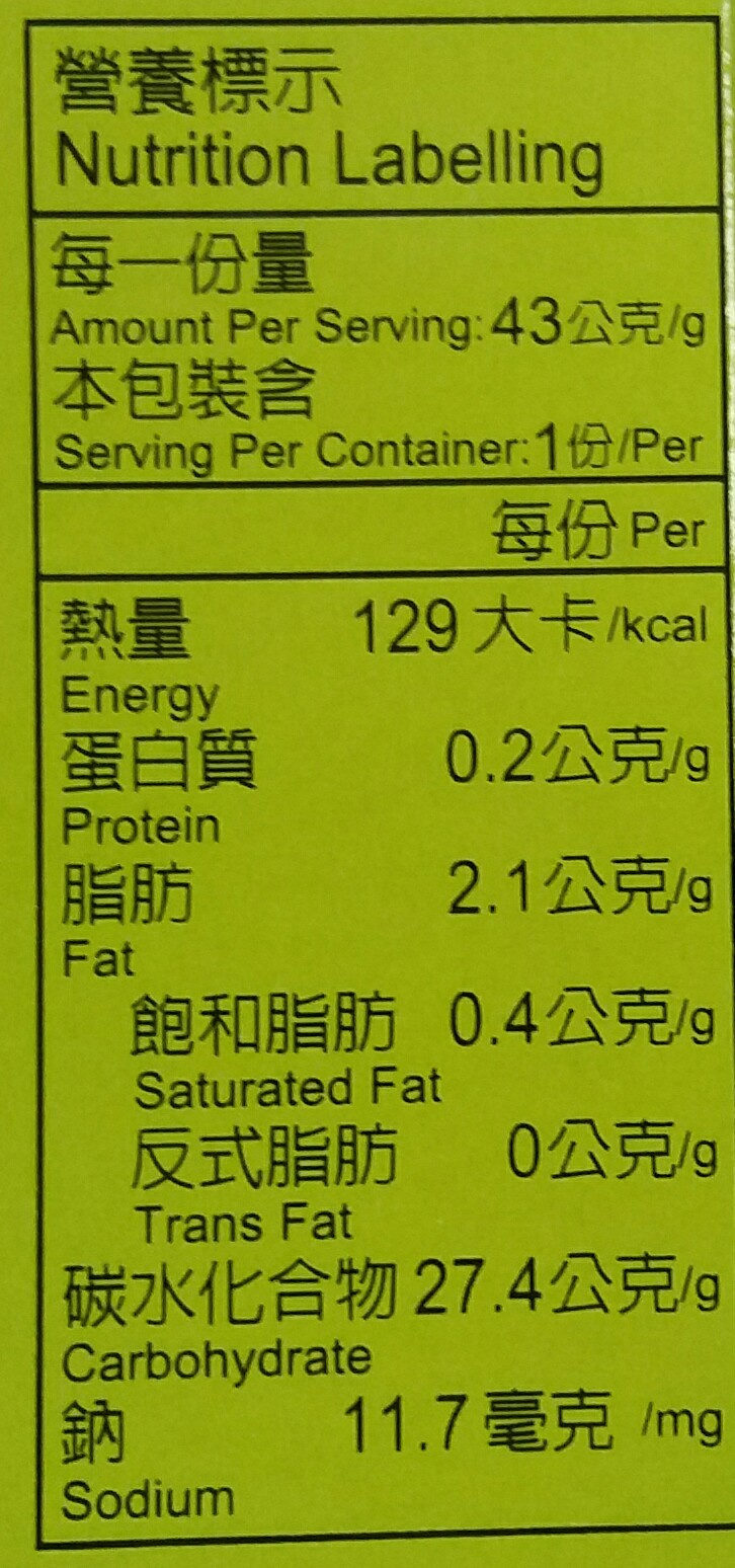 wasabi sauce - Giá trị dinh dưỡng - en