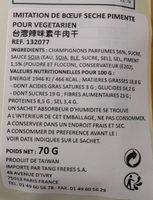 Mock beef jerky HOT - Ingrédients - fr