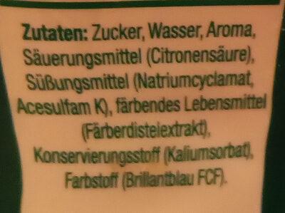 SodaStream Waldmeister-Geschmack - Ingredients - de