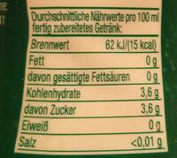 SodaStream Waldmeister-Geschmack - Nutrition facts - de