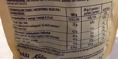 Tiramisu mandel - Nutrition facts