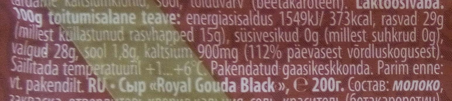 Royal gouda - Voedingswaarden - et