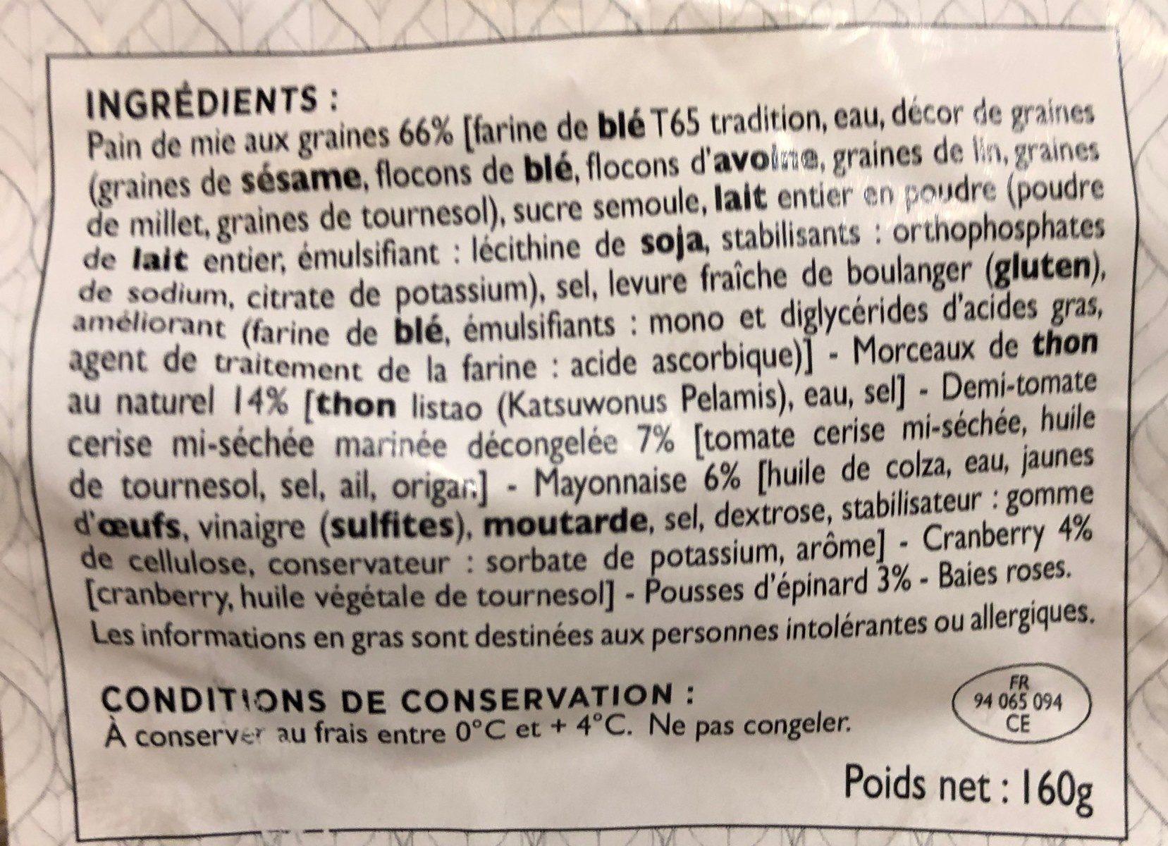 Club aux cereales - Ingredients - fr