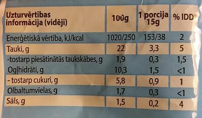Oriģinālā Light majonēze - Nutrition facts - lv
