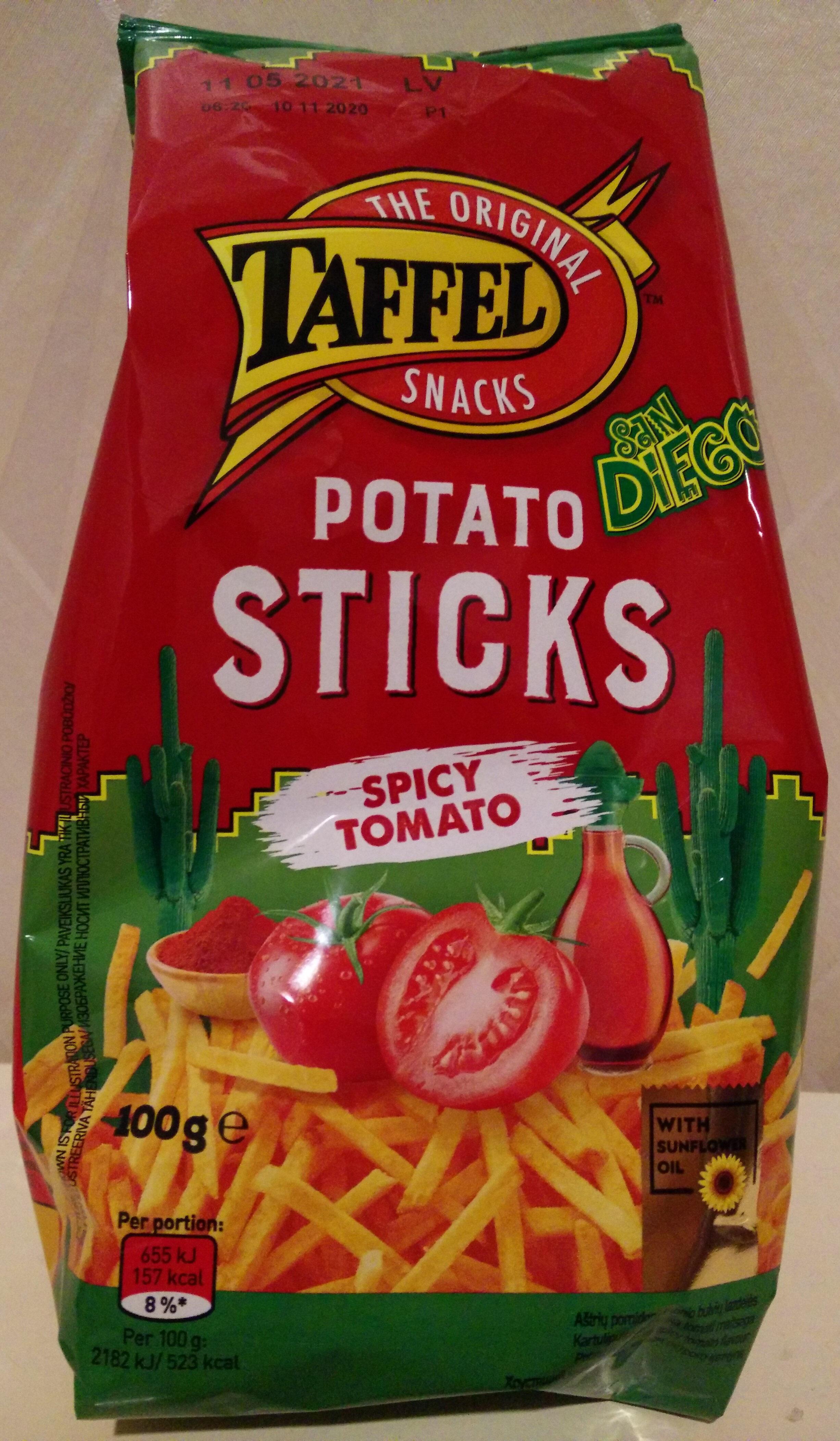 Aštrių pomidorų skonio bulvių lazdelės - Produktas - lt