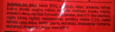 Aštrių pomidorų skonio bulvių lazdelės - Ingredients - lt