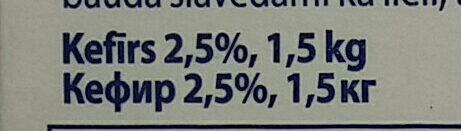 2.5% kefīrs - Ingredients - lv