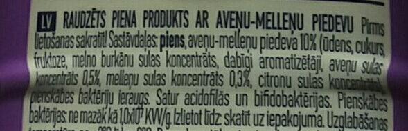 Aveņu-melleņu Lakto - Ingredienti - lv