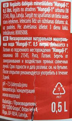 Negāzēts dabīgais minerālūdens Mangaļi-1 - Prodotto - lv