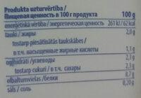 Grieķu jogurts - Valori nutrizionali - lv